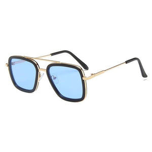 Kids Rounded Square Gold Frame Sunglasses