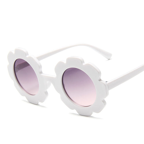 Kids Round Flower Sunglasses