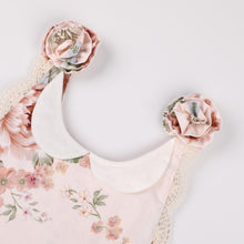 Load image into Gallery viewer, Peach Floral and Lace Jumpsuit