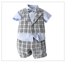 Load image into Gallery viewer, 3PC Plaid Gent Summer Set