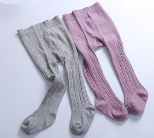 Cotton Cable Knit Tights - 6mths to 12yrs