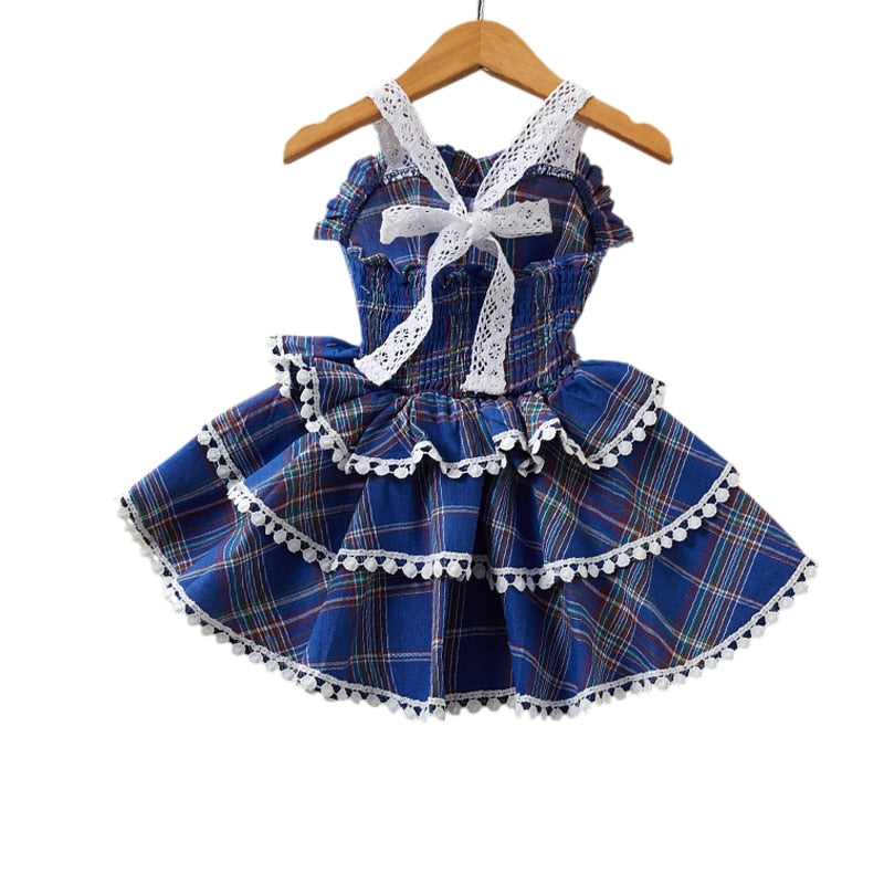 Plaid Three Tier Pleated Dress