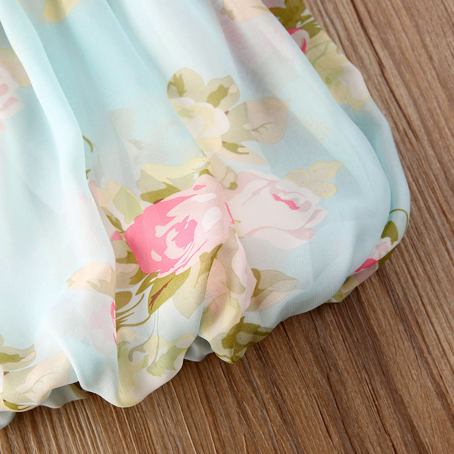 Floral Chiffon Bubble Dress