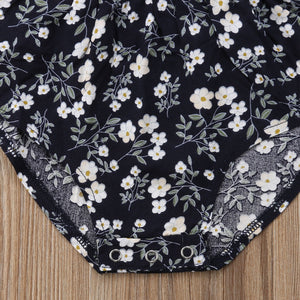 Off-Shoulder Floral Baby Romper