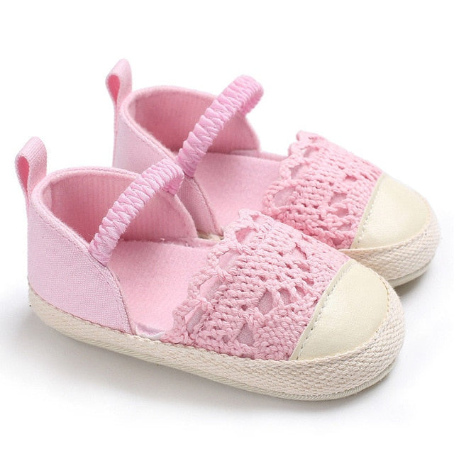 Baby Crocheted Lace Espadrilles - Soft Sole