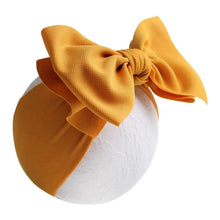 "Load image into Gallery viewer, Textured Thick Strap Double Layer 7"" Classic Bow Headband"