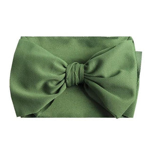 "Textured Thick Strap Double Layer 7"" Classic Bow Headband"