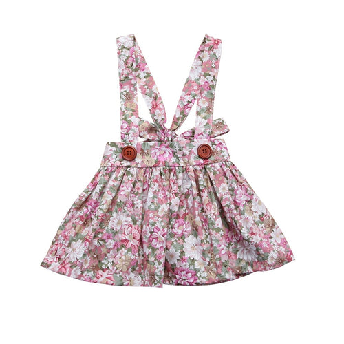 Floral Suspender Skirt