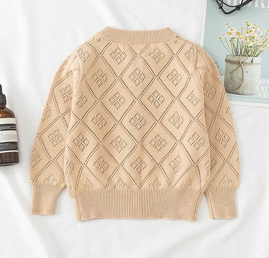 Girls Lattice Cardigan