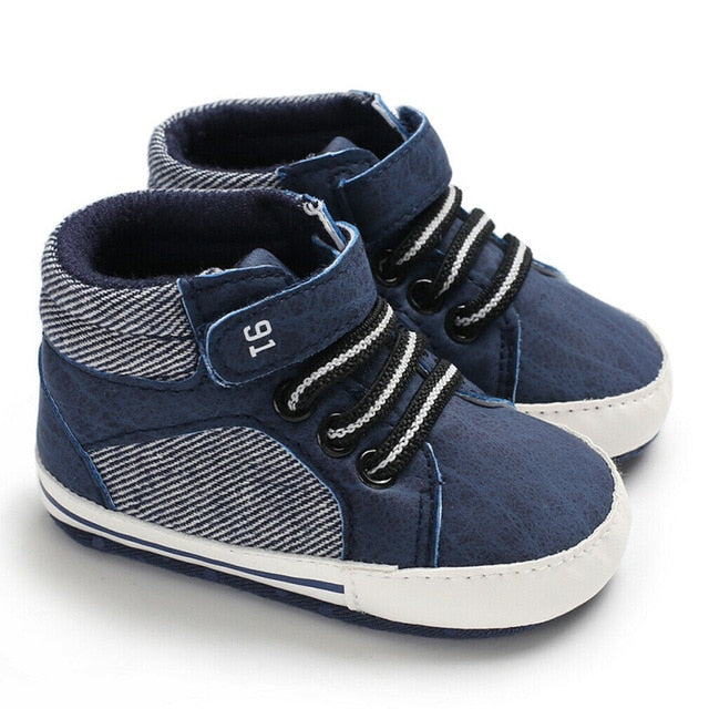 Baby High Top Shoes - Soft Sole