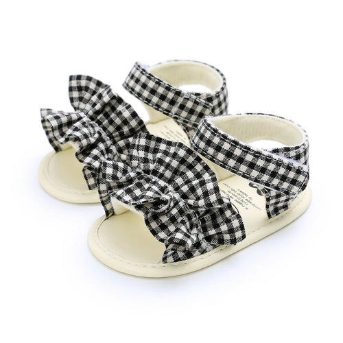 Ruffle Toe Baby Sandals - Soft Sole