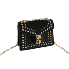 Load image into Gallery viewer, Studded PU Leather Shoulder Bag