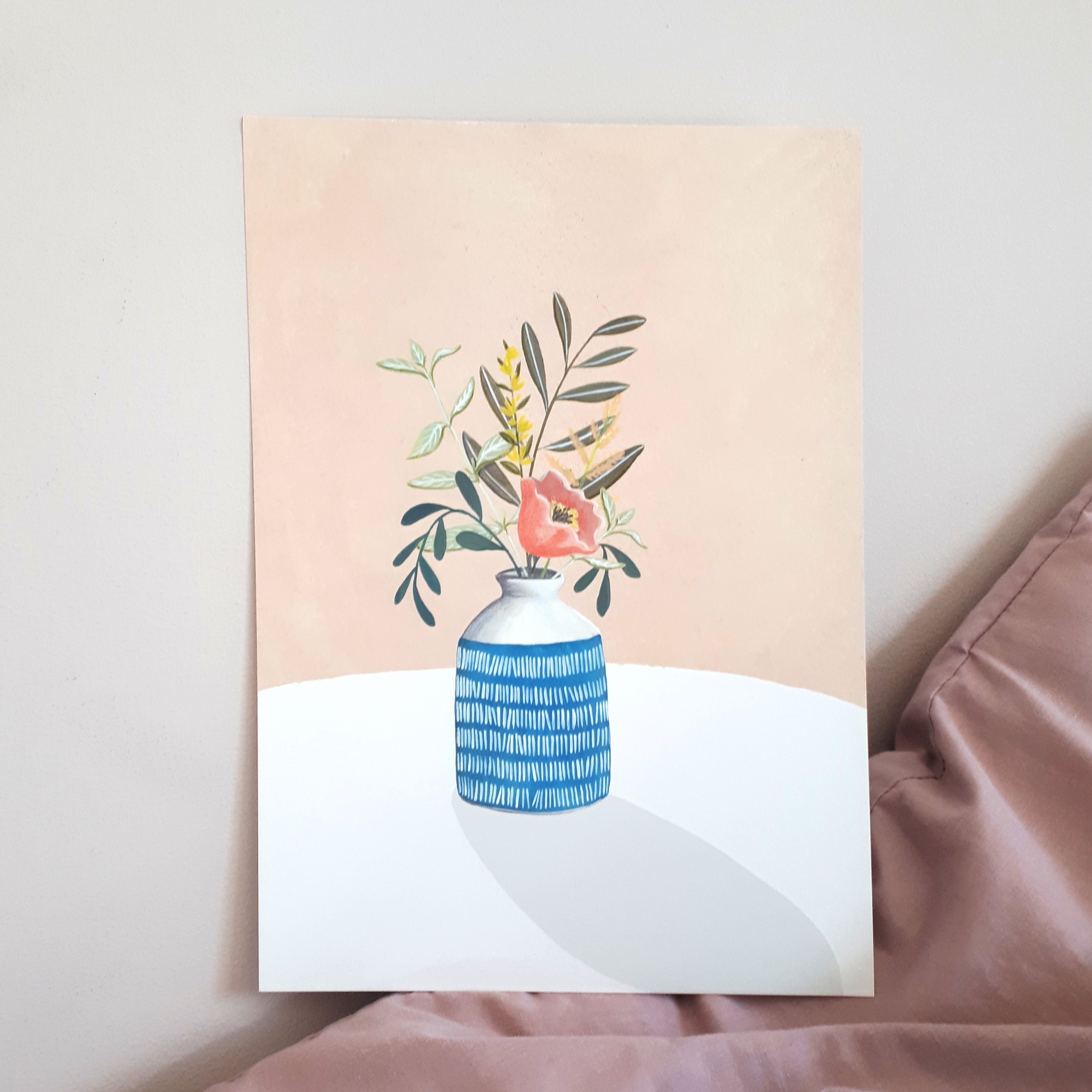 'Pot of Flowers' Art Print