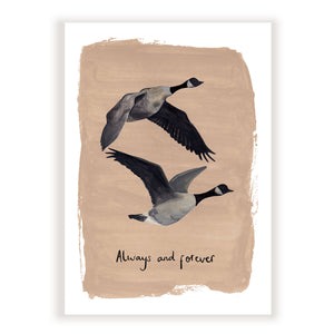 'Always & Forever Geese' Fine Art Print