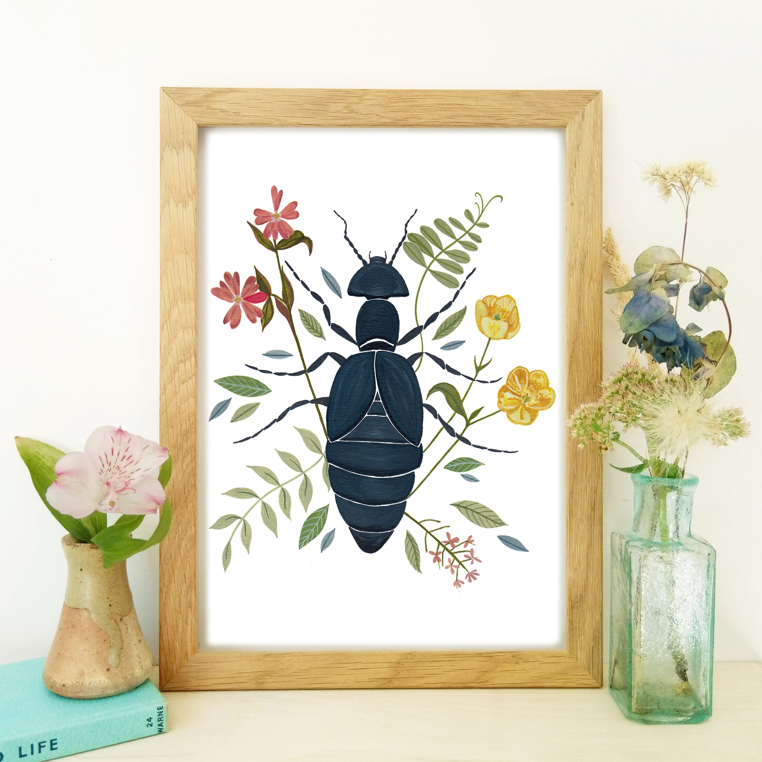 'Botanical Beetle' Fine Art Print - END OF LINE