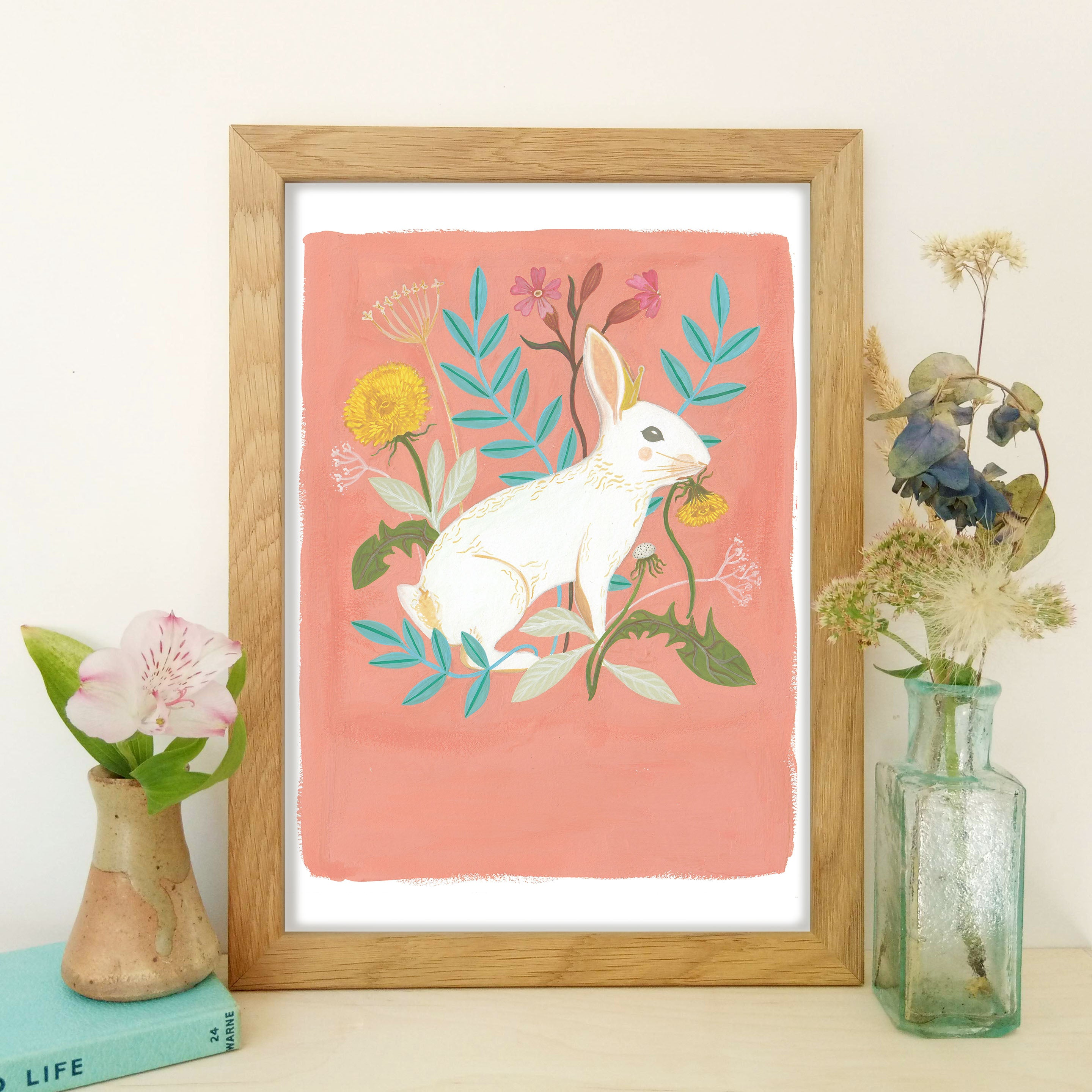 Botanical Bunny Fine Art Print - END OF LINE