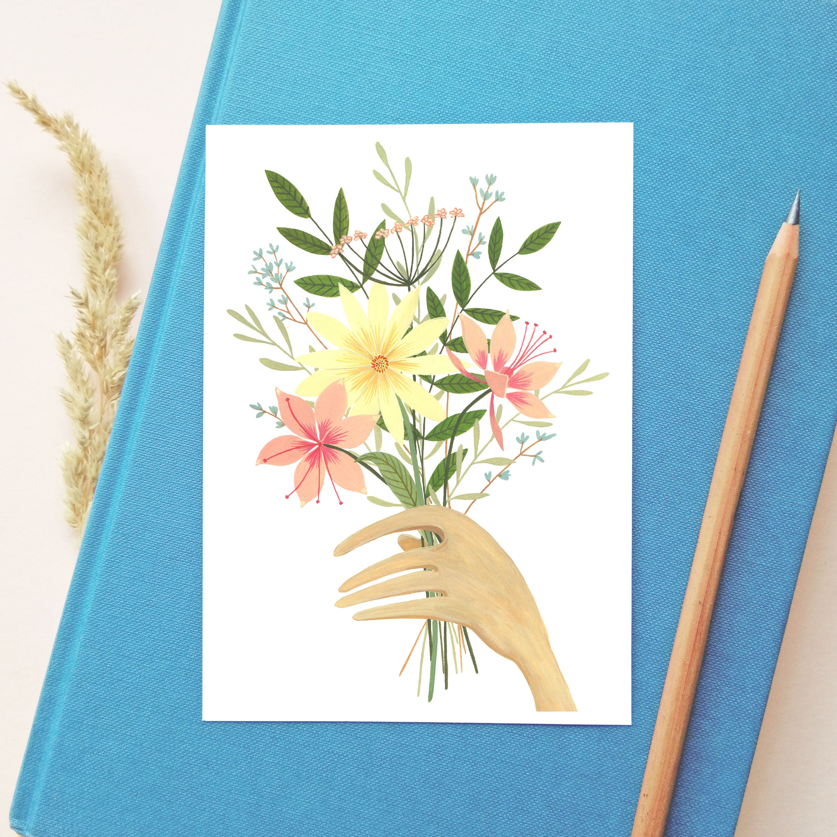 'Bunch Of Flowers' Postcard
