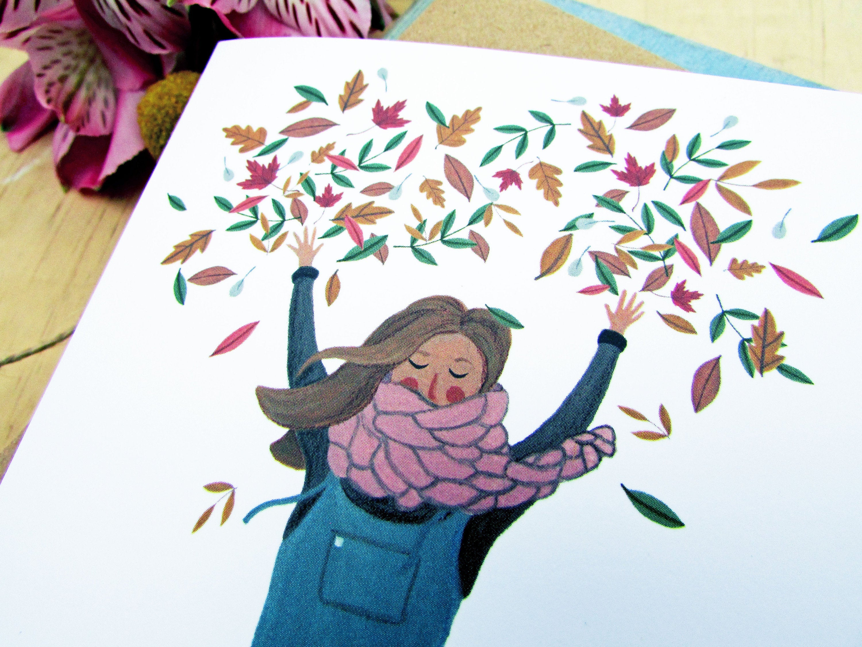 Autumn Leaves Birthday Card