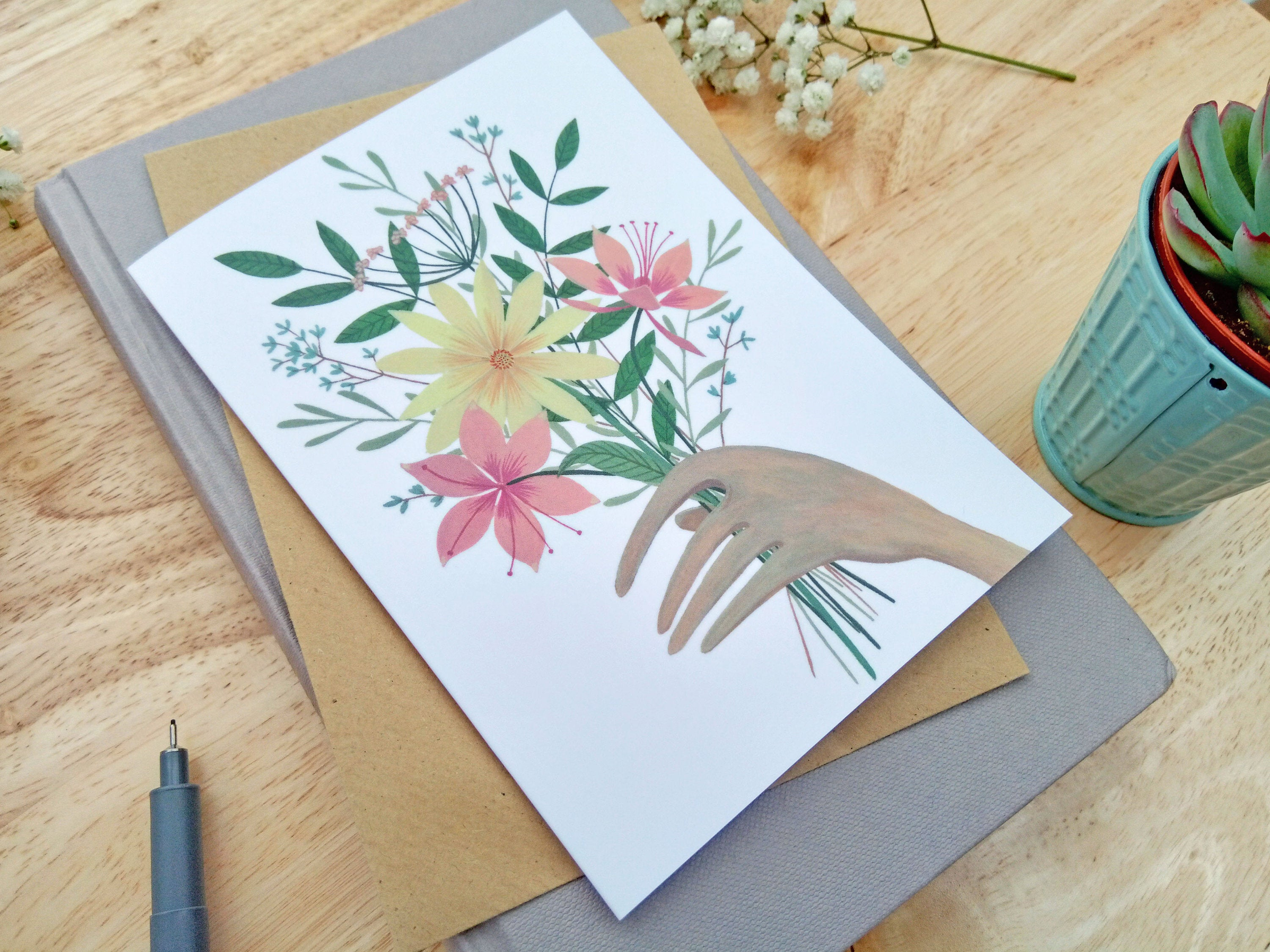 'Bunch Of Flowers' Card