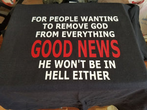 People who want to remove God graphic tee