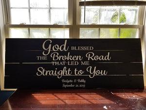 God Bless the Broken Road (wedding/engagement)