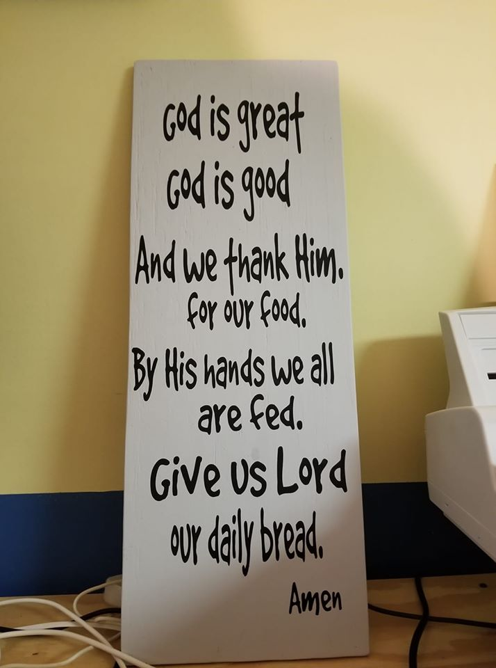 God is great_God is good hand-painted wooden sign