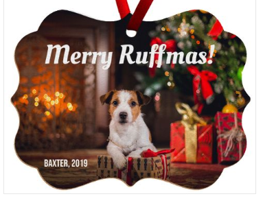 Merry Ruffmas Christmas Ornament