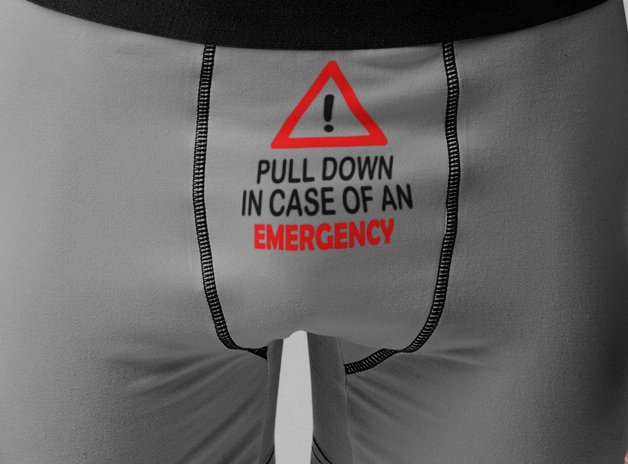 Pull Down in Case of Emergency