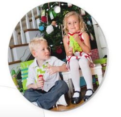 Photo Christmas Ornament  - Round