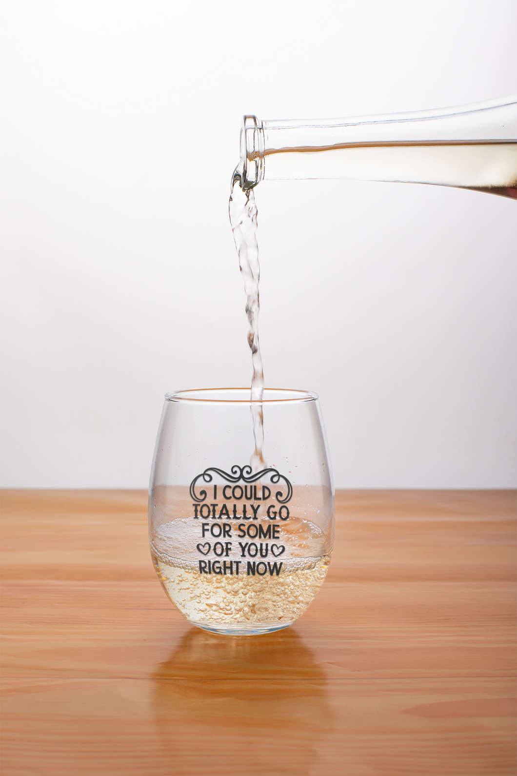 I could totally go for some o f you right now - stemless wine glass
