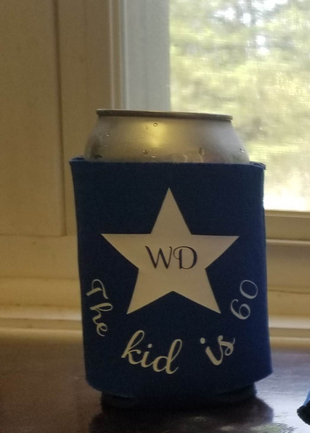 75th birthday Custom Coozie