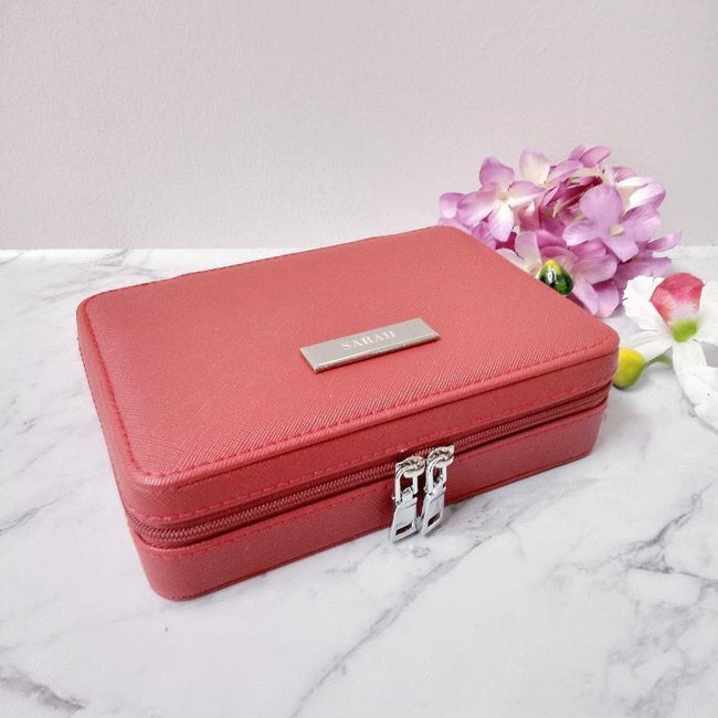 Personalised Jewellery Box | Ruby Red Jewellery Box Vayne Accessories