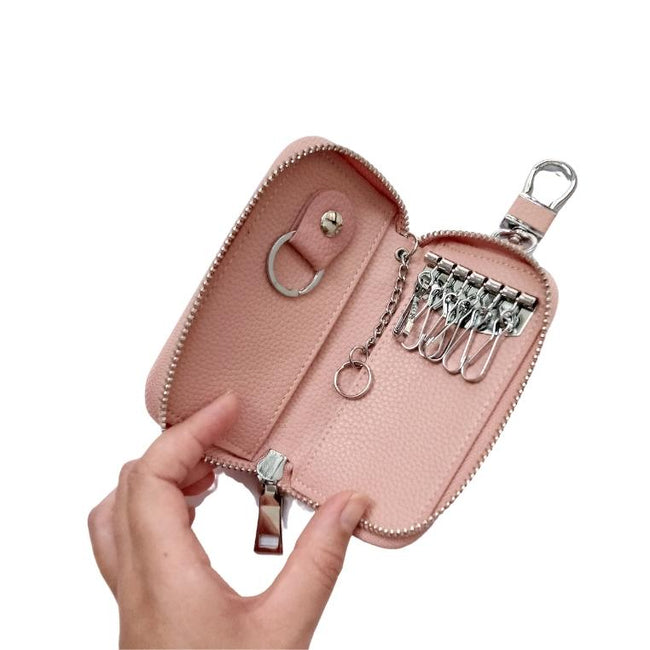Personalised Key Chain Holder Pouch | Light Pink Coin Purse Vayne Accessories