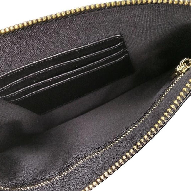 Personalised Leather Large Clutch Pouch | Black Clutch Pouch Purse Vayne Accessories