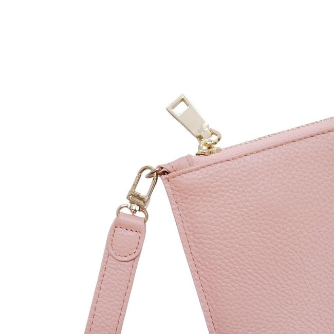 Personalised Leather Large Clutch Pouch | Light Pink Clutch Pouch Purse Vayne Accessories