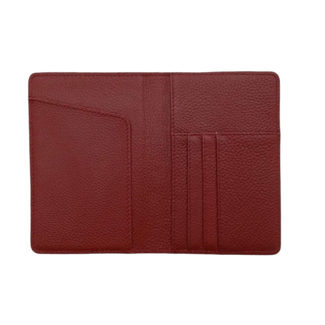 Personalised Burgundy Leather Passport Wallet-Vayne Accessories