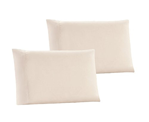 QUEEN size Solid BEIGE Pillow Cases 1500 Thread Count Egyptian Quality 2 piece set, Silky Soft & Wrinkle Free