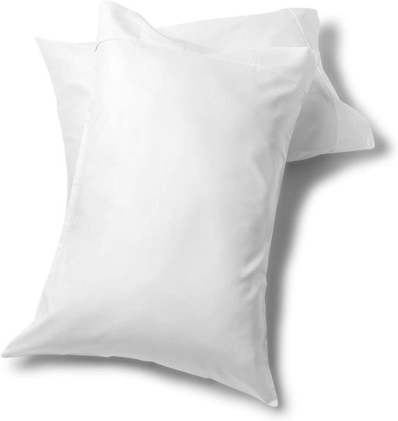 "Fisher West New York The Village 500 Thread Count - White Standard Pillow Case Set 21"" X 30"" - Soft, Cozy, Durable - Crafted from Natural, Breathable Cotton Fabric - Made for Sound Sleep"