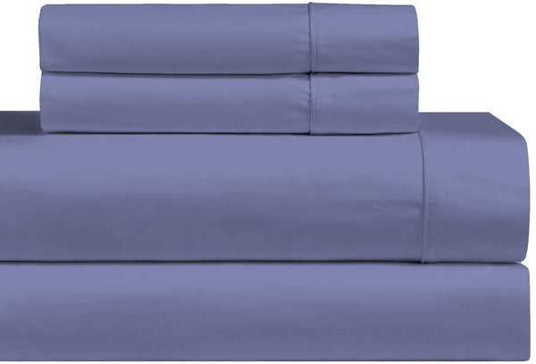 sheetsnthings Solid 1000-Thread-Count Cotton-Blend Set of 2 Standard Pillow Cases, Periwinkle