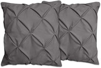 whitecottonworld Euro Square 2-Piece Pillow Shams Silver Grey Solid 400 Thread Count 100% Egyptian Cotton Set of Two Euro (22 x 22 Inches) Pillow Shams, Gorgeous Decorative Bed Pillow Cover/Cases