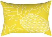 FIN86 Throw Pillow Covers, 12X20 Inch Rectangle Cotton Simple Solid Color Waterproof Decorative Pillowcase Soft Cozy Farmhouse Cushion Cover Home Decor for Home Couch Bed Outdoor Yellow