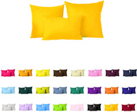"Pair(2Pc) Solid Color Pillow Cover/Cushion Case (18""x18"", Yellow)"