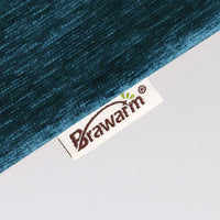 BRAWARM Pack of 2 Comfy Throw Pillow Covers Cases for Couch Sofa Home Decoration Solid Dyed Striped Soft Chenille 20 X 20 Inches Deep Lagoon