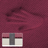 "Chair Cushion Memory Foam Pads Non Slip Honeycomb Pattern Square 16"" x 16"" Seat Cover Ultimate Comfort and Softness Cushions with Ties - Solid Color Seat Cover 16"" x 16"", 4 Pack, Burgundy"