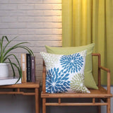 "Phantoscope New Living Blue&Green Decorative Throw Pillow Case Cushion Cover 18"" x 18"" 45 x 45 cm Set of 4"