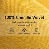 Kevin Textile Pack of 2 Decorative Throw Pillow Covers, Soft Cushion Case, Square Chenille Velvet Pillowcase 18 x 18 for Couch Sofa Bedroom, Vibrant Yellow