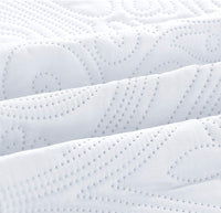 "Golden Linens Ultrasonic #D1 Over Size 115"" X 95"" King/Calking 3 Pieces Solid Color Embossed, Bedspread Coverlet Set # Ultrasonic D1 White, King/Calking"