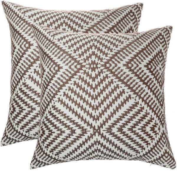 "STARSSTARS Throw Pillow Case Cushion Cover 18"" x 18""Decorative Square Throw Pillow Covers Cushion Cases Pillow Cases for Couch Sofa Bedroom Outdoor Shell (Brown, 2020)"