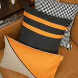 ISKYER HOME Set of 4 Throw Pillow Covers Decorative Striped Solid Polyester Cushion Cover Luxury Lumbar Pillow Cover Fashionable Pillowcases Cover for Couch Star, 18 x 18 inch & 12 x 24 inch