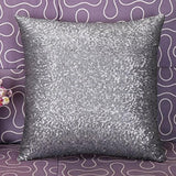 Aremazing Solid Color Glitter Sequins Home Office Decorative Pillowcase Throw Pillow Cushion Cover 16 x 16 Inches (Grey)